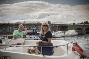 Oscar captured this great picture of a sailing couple in Banagher